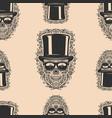seamless pattern with sugar skulls design element vector image vector image