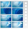 set of buisness card blue vector image vector image
