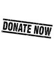 Square grunge black donate now stamp