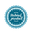 Stamp with text Natural Product written inside vector image vector image