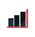 statistics finance report office work business vector image