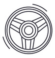 steering wheel line icon sig vector image vector image