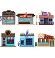 store shop set color full flat style vector image vector image
