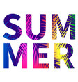 summer poster with colorful letters vector image vector image