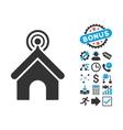Telecom Office Flat Icon with Bonus vector image vector image