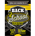 template for a retro party back to school vector image