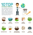 top 10 ecological problems vector image vector image