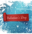 Valentines Day realistic red curved Ribbon vector image