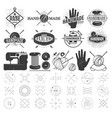 vintage hand made logo labels badges and design vector image