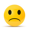 yellow sad face vector image