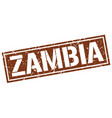 zambia brown square stamp vector image vector image