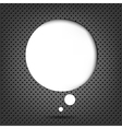 Metal Background With Speech Bubble vector image