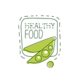 Fresh Vegan Food Promotional Sign With Peas And