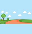 a flat nature landscape vector image