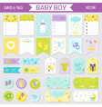 Baby Boy Shower or Arrival Set - Tags Banners