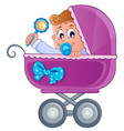 baby carriage theme image 3 vector image