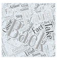 Back Pain and Backers Word Cloud Concept vector image vector image