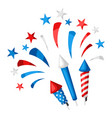 background with bright colorful fireworks vector image