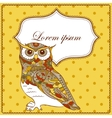 Background with owl vector image vector image