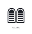 black halakha isolated icon simple element from vector image vector image