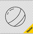 black line beach ball icon isolated on transparent vector image vector image