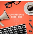 Blog management concept vector image