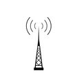 broadcasting antenna icon vector image vector image
