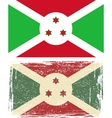 Burundi grunge flag vector image vector image