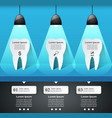 business infographics tooth icon vector image