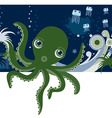 Cartoons octopus vector image