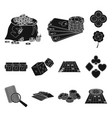 casino and equipment black icons in set collection vector image