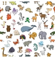 children drawings doodle animals seamless pattern vector image vector image