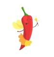 Chili Pepper Fairy In Skirt WIth Magic Wand Part vector image vector image