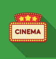 cinema signboard icon in flat style isolated on vector image