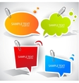colorful speech bubble vector image