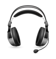 computer headset microphone vector image vector image