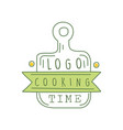 cooking time logo original design with cutting vector image vector image
