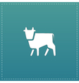 Cow flat icon vector image vector image