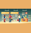 customers tools store hardware construction shop vector image vector image