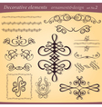 decorative ornament elements vector image