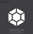 diamond premium icon white on dark background vector image vector image