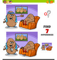differences game with couch potato proverb vector image