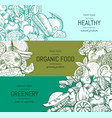 doodle handdrawn vegetables and fruits vector image vector image