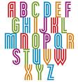 Double line retro style trendy font vector image vector image