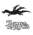dragon flying vector image vector image