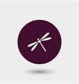 dragonfly icon simple vector image