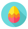 Easter Egg with Zigzag Decor Circle Icon vector image vector image
