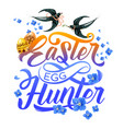 easter holiday egg hunting party invitation poster vector image