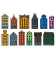europe house or apartments set cute vector image vector image