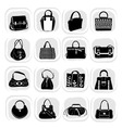 fashion bag vector image vector image